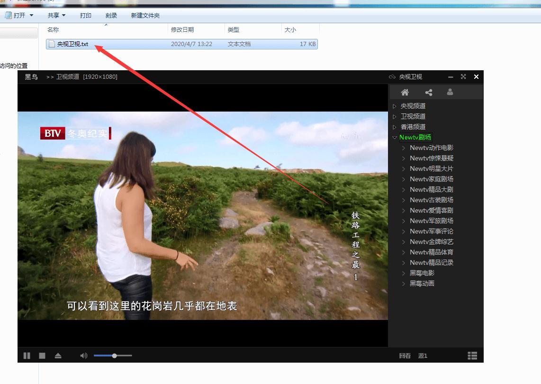 PC电视黑鸟全球电视再现直播软件